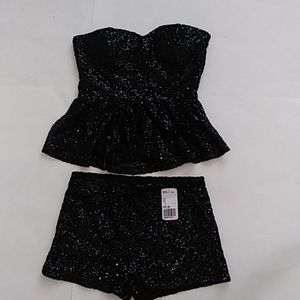 Forever 21 Sequin Top and Bottoms